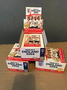 merlin england 2006 sticker boxes  Messi ? Ronaldo?