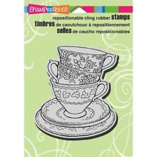 Stampendous Cling Stamp - Teacup Trio CRW138