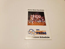 RS20 Youngstown Pride 1988 WBL Basketball Pocket Schedule - Pharxmor