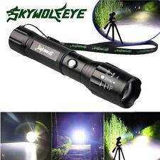 POLICE 12000Lumens 5 Modes CREE XM-L T6 LED Zoomable 18650 Flashlight Aluminum