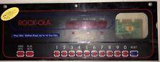 Rock-Ola 496-1 Jukebox Working Display & Buttons Rack