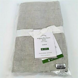 Pottery Barn Standard Size Belgian Flax Linen Sham in Shade Flax New with Tags