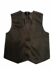 NEW Boys Dress Vest with Neck Tie Set 20 Colors, All Sizes.