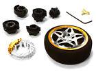 C26406GUNGOLD D5S Steering Wheel Set for Most HPI, Fut, Air, Hitec KO