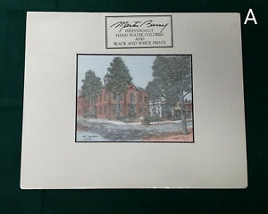 Signed Martin Barry Hand Colored Print Court House Courthouse Bel Air Maryland