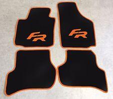 Autoteppich Fußmatten für Seat Leon 1P FR orange ab 2005 Formula Racing Neuware