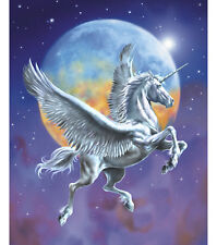 LARGE FLYING PEGASUS UNICORN PANEL WALL HANGING FABRIC MATERIAL QUILTS DECOR #1