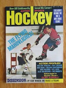 FRANK & PETE MAHOVLICH Action Sports Apr 1972 Hockey Magazine MONTREAL CANADIENS
