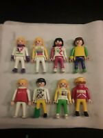 Lot of 17 Playmobil minifigs + Summer and Winter accessories figures geobra