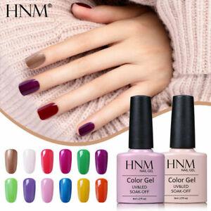 HNM Colour Gel Nail Polish Lacquer Top Base Coat UV LED Manicure Salon Varnish
