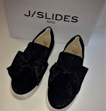 J/SLIDES NYC Beauty SNEAKER WITH BOW 6M Black Velvet Shoes NEW IN BOX 36 NWT 6