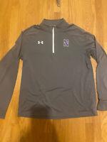 Northwestern University Wildcats Under Armour 1/4 Zip Gray Size Large
