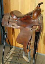 "Vintage 13"" cirlce Y saddle Cow Country Yoakum Texas"