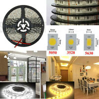 5M 5050/ 3528/ 5630 SMD 300/ 600 Leds Cool/Warm White LED Strip Light Waterproof