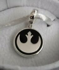 35% OFF Genuine CHAMILIA 925 Silver Disney STAR WARS Rebel Logo Charm RRP £40