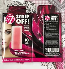 W7 Strip Off 10 Facial Lip Hair Removal Wax Strips. Perfect For UPPER LIP HAIR X