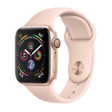 Apple Watch Series 4 44mm Aluminiumgehäuse in Gold mit Sportarmband in Sandrosa (GPS) - (MU6F2FD/A)