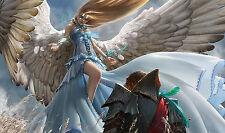 Custom Playmat • Tappetino Artwork MAGIC MTG RESTORATION ANGEL • Limited Edition