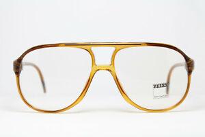 ZEISS 2041-1487 Vintage Brille Eyeglasses Frame Bril Glasögon Aviator Pilot 80s