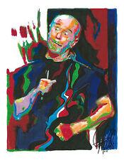 George Carlin, Comedian, Social Critic, Seven Dirty Words, 8.5x11 PRINT w/COA