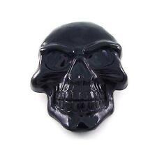 Demon Evil Skull Skeleton Biker Motorcycle Tattoo Black Chrome Metal Belt Buckle