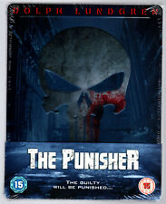 THE PUNISHER BLU-RAY STEELBOOK NEU & OVP SEALED SOLD OUT EMBOSSED LUNGREN ZAVVI