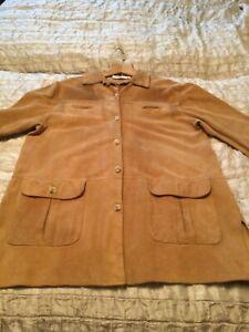 Vintage Ladies OMBRA Italian Chamois Suede Leather Jacket – 1970's