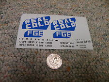 "Herald King decals HO Real Cold FGE 8"" 4"" logos blue   XX78"