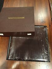 NIB LEATHERMARK HOLSON CO. LEATHER BOUND/GOLD TRIM WEDDING PHOTO ALBUM, 13X12.