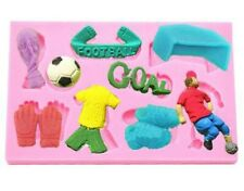 FOOTBALL SILICONE MOULD-SOCCER-GOAL BOOTS-FONDANT MOLD-WORLD CUP-KIT/GLOVES-BALL