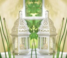 "White Moroccan Candle Lantern 12"" tall (Set of Two) Wedding Party Supplies 38465"