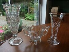 Three Lovely Pieces Of Vintage Glass.