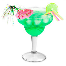 Disposable clear plastic Large 10 fl oz Margarita Cocktail Glass & Decorations