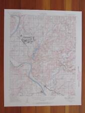 Webbers Falls Oklahoma 1950 Original Vintage USGS Topo Map