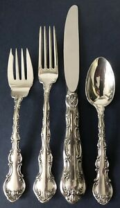 GORHAM STRASBOURG 4-PC STERLING PLACE Size KNIFE FORK SPOON Setting MINT Unused