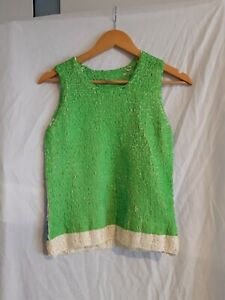 Pleats please Issey Miyake green/blue textured top size 3 made in Japan