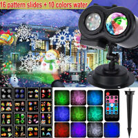 Outdoor LED Landscape Lights Projector Party Lamp Christmas Xmas 16 Themes Laser
