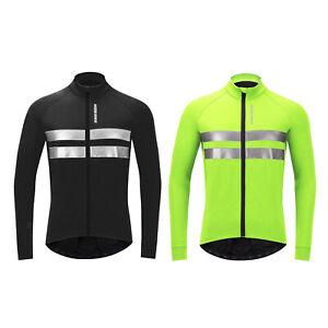 Cycling Jacket Winter Windproof Bike Outwear Soft Shell Coat Running Jersey