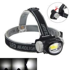 Super Bright 400 Lm COB 3Mode LED Mini Headlight  Head Torch Flashlight 3x AAA