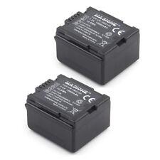2 Pack VW-VBG130 Battery For Panasonic SDR-H79 HDC-SD9 HDC-SD100 SDR-H80 VDR-D51