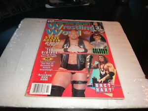Wrestling world magazine february 1998 steve austin poster colour pin up wwe wcw