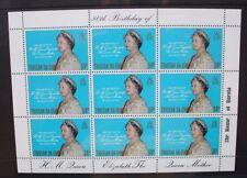 TRISTAN DA CUNHA 1980 Queen Mother 80th Birthday. SHEETLET of 9. MNH. SG282.