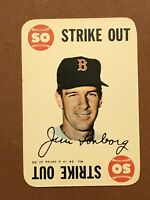 1968 Topps Game Jim Lonborg Card #14 NM-MINT - Boston Red Sox