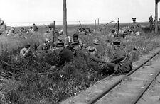 WW2  Photo French POW's  1940  WWII Belgium France World War Two