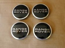 4x OEM Range Rover Noir Chrome Hub Centre Caps L322 VOGUE suralimenté Sport