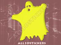 Pegatina Fantasma 3D Relieve - Color Amarillo