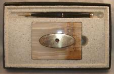 Parker White Onyx 45 Cartridge Pen Desk Set in box
