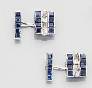 Baguette Cut Cubic Zirconia & Calibré Cut Sapphire In 935 Argentium Silver