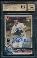 BGS 9.5 AUTO 10 WALKER BUHLER 2018 Topps Bowman Holiday TURKEY #/35 RC GEM MINT