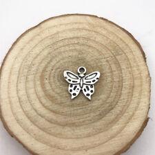 7pcs Butterfly Charm Tibetan Silver Tone Pendant  Charms Pendants 15x16mm